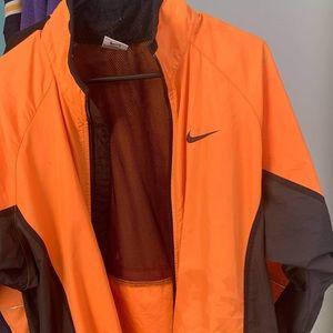 RARE NIKE orange and black windbreaker